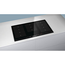 Buy Siemens EH975MV17E Induction Hob, Black Glass Online at johnlewis.com