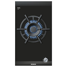 Buy Siemens ER326AB70E Domino Gas Wok Hob, Black Glass Online at johnlewis.com