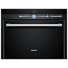 Buy Siemens HB86P675B Compact Single Electric Oven with Microwave, Black Online at johnlewis.com