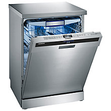 Buy Siemens SN26T597GB Freestanding Dishwasher, Stainless Steel Online at johnlewis.com
