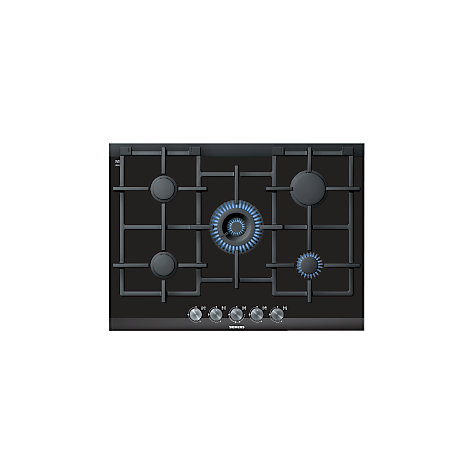 Buy Siemens ER726RB71E Gas Hob, Black Glass Online at johnlewis.com
