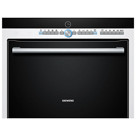 Buy Siemens HB86P275B Compact Single Electric Oven with Microwave, White Online at johnlewis.com