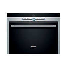 Buy Siemens HB36D575B Compact Combination Steam Oven, Black/Stainless Steel Online at johnlewis.com