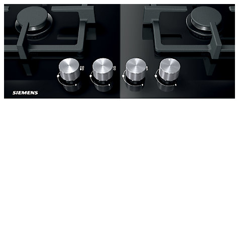 Buy Siemens ER926SB70E Gas Hob, Black Glass Online at johnlewis.com