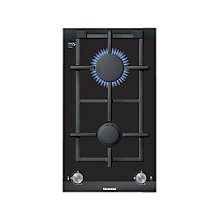 Buy Siemens ER326BB70E Domino Gas Wok Hob, Black Glass Online at johnlewis.com
