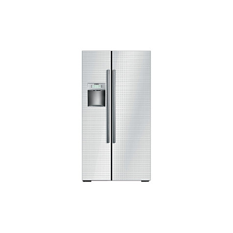 Buy Siemens KA62DS21 American Style Fridge Freezer, White Glass Online at johnlewis.com