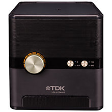 Buy TDK Q35 Wireless Speaker with Qi Wireless Charging, Black Online at johnlewis.com