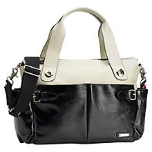 Buy Storksak Kate Changing Bag, Black/White Online at johnlewis.com