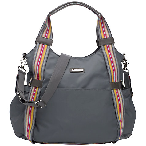 Buy Storksak Tania Bee Changing Bag, Grey Online at johnlewis.com