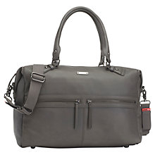 Buy Storksak Caroline Leather Changing Bag, Grey Online at johnlewis.com