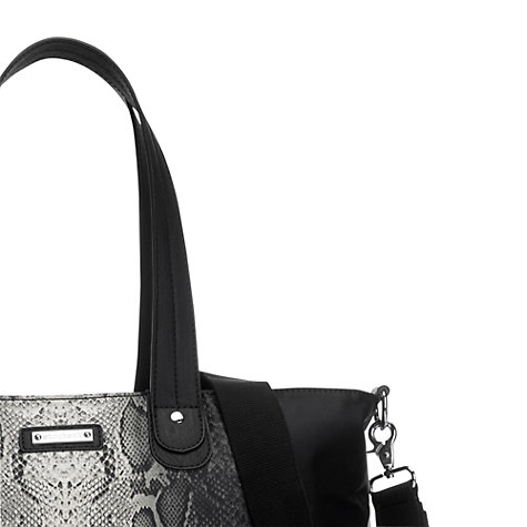 Buy Storksak Python Tote Bag, Black Online at johnlewis.com