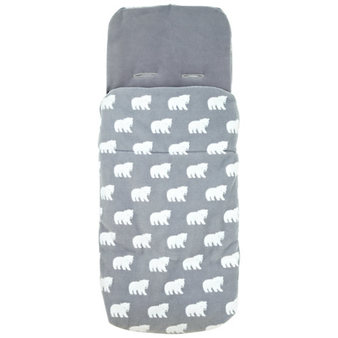 Buy John Lewis Polar Bear Footmuff, Grey Online at johnlewis.com