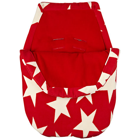 Buy John Lewis Star Infant Carrier Footmuff, Red Online at johnlewis.com