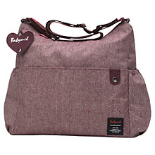 Buy BabyMel Big Slouchy Tweed Changing Bag, Aubergine Online at johnlewis.com