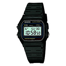 Buy Casio W-59-1VQES Men's Core Retro Alarm Chronograph Watch, Black Online at johnlewis.com