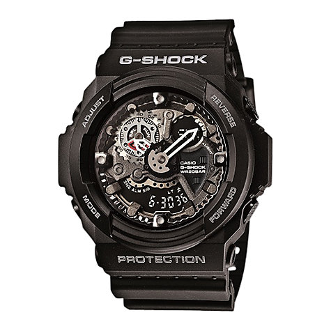 Buy Casio GA-300-1AER G-Shock Resin Skeleton Dial Chronograph, Black Online at johnlewis.com