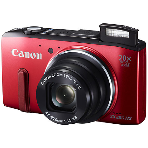 "Buy Canon PowerShot SX280 Smart Camera, HD 1080p, 12.1MP, 20x Optical Zoom, Wi-Fi, GPS with 3"" LCD Screen Online at johnlewis.com"