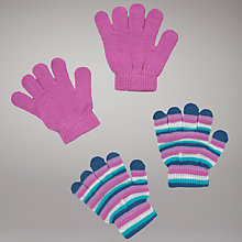 Buy John Lewis Two Pack Magic Gloves, Pink/Multi Online at johnlewis.com