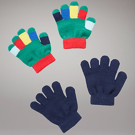Buy John Lewis Two Pack Magic Gloves, Navy Online at johnlewis.com
