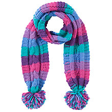 Buy John Lewis Girl Chunky Knit Stripe Scarf, Multi Online at johnlewis.com