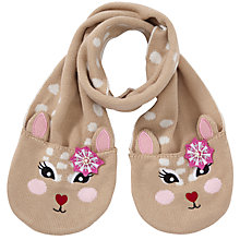 Buy John Lewis Girl Deer Scarf, Fawn Online at johnlewis.com