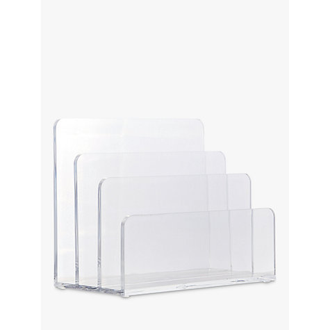 Buy Osco Acrylic Letter Rack, Clear Online at johnlewis.com