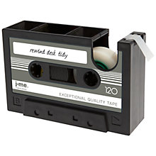 Buy J-Me Rewind Tape and Desk Tidy, Black Online at johnlewis.com