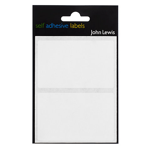 Buy John Lewis Self Adhesive Labels, White, 50mm x 80mm Online at johnlewis.com
