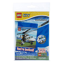 Buy Lego Party Invitations, Pack of 8 Online at johnlewis.com