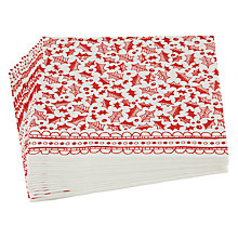 Buy Talking Tables Let It Snow Dinner Paper Napkins, Pack of 20 Online at johnlewis.com