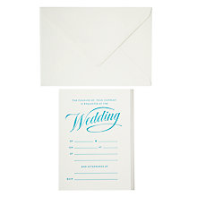 Buy Marby & Elm Script Wedding Invitations, Pack of 6 Online at johnlewis.com