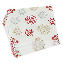 Buy John Lewis Snowflake Cocktail Paper Napkins, Pack of 20 Online at johnlewis.com