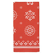 Buy John Lewis Snowflake Disposable Paper Table Cover, Red Online at johnlewis.com