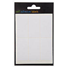 Buy John Lewis Self Adhesive Labels, White, Pack of 42 Online at johnlewis.com