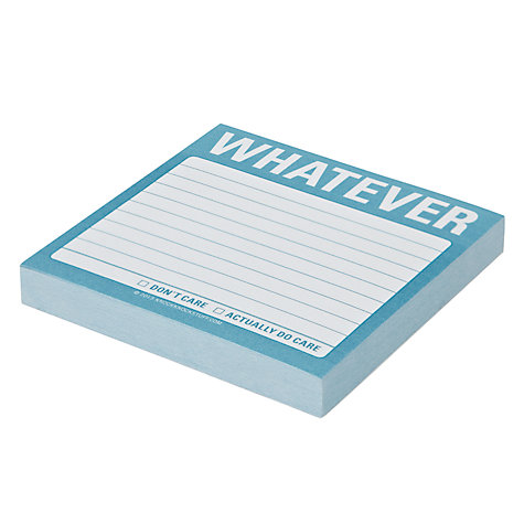 Buy Knock Knock Whatever Sticky Notes Online at johnlewis.com