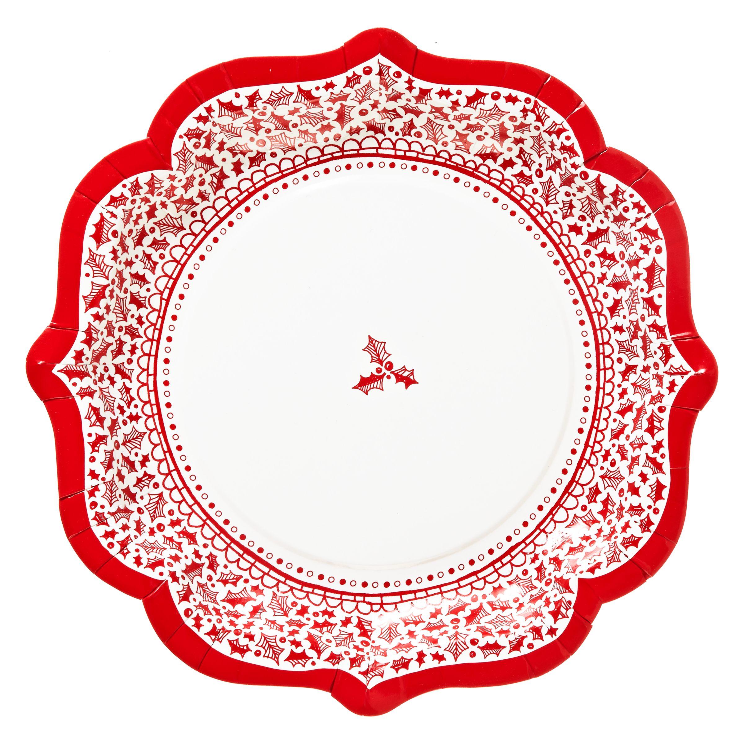 Talking Tables Let It Snow Paper Plates, Set of 8