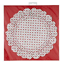 Buy Talking Tables Let It Snow paper Doilies, Pack of 20 Online at johnlewis.com