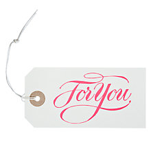 Buy Marby & Elm For You Gift Tag, Pack of 6 Online at johnlewis.com