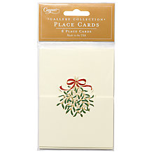 Buy Caspari Ltd Mistletoe Embossed Foil Placecards, Pack of 8 Online at johnlewis.com