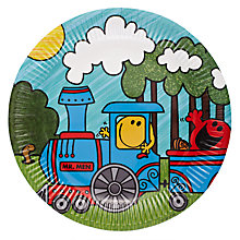 Buy Talking Tables Mr Men Transport Party Plates, Pack of 8 Online at johnlewis.com