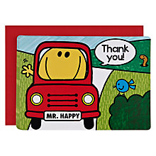 Buy Talking Tables Mr Men Transport Thank You Cards, Pack of 10 Online at johnlewis.com