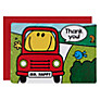 Talking Tables Mr Men Transport Thank You Cards, Pack of 10