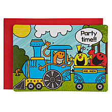 Buy Talking Tables Mr Men Transport Invitations, Pack of 10 Online at johnlewis.com