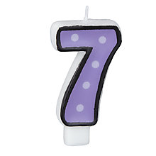 Buy Party Polka Dot Number 7 Candle, White Online at johnlewis.com
