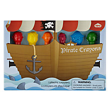Buy Pirate Crayons, Pack of 6 Online at johnlewis.com