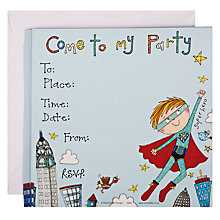 Buy Rachel Ellen Superhero Invitations, Pack of 8 Online at johnlewis.com