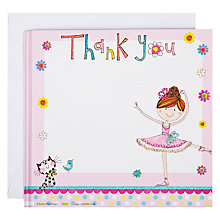 Buy Rachel Ellen Ballerina Thank You Notecards, Pack of 8 Online at johnlewis.com