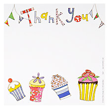 Buy Rachel Ellen Thank You Cupcake Notecards, Pack of 5 Online at johnlewis.com