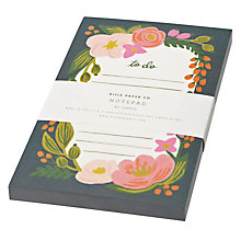Buy Rifle Paper Company Floral To Do List, Small Online at johnlewis.com