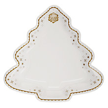 Buy Talking Tables Party Porcelain Christmas Tree Paper Platter Plate, Gold Online at johnlewis.com